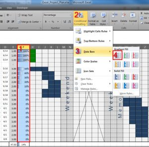 Project Plan Spreadsheet for An Excel Project Planning Spreadsheet
