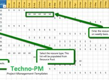 Resource Capacity Planning Spreadsheet then Capacity Planning Template Excel Download Project Management Templates