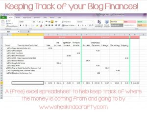 Spreadsheet to Keep Track Of Expenses or Keep On Track