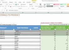 Bakery Inventory Spreadsheet for Manufacturing Inventory and Sales Manager Excel Template V1 Overview