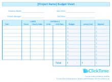Budget Plan Spreadsheet and Business Budget Template Plan Project Budgets with Excel Clicktime