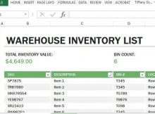 Inventory Spreadsheet Template Of Warehouse Inventory Excel Template
